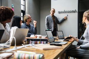 startups and enterprise teams in coworking spaces