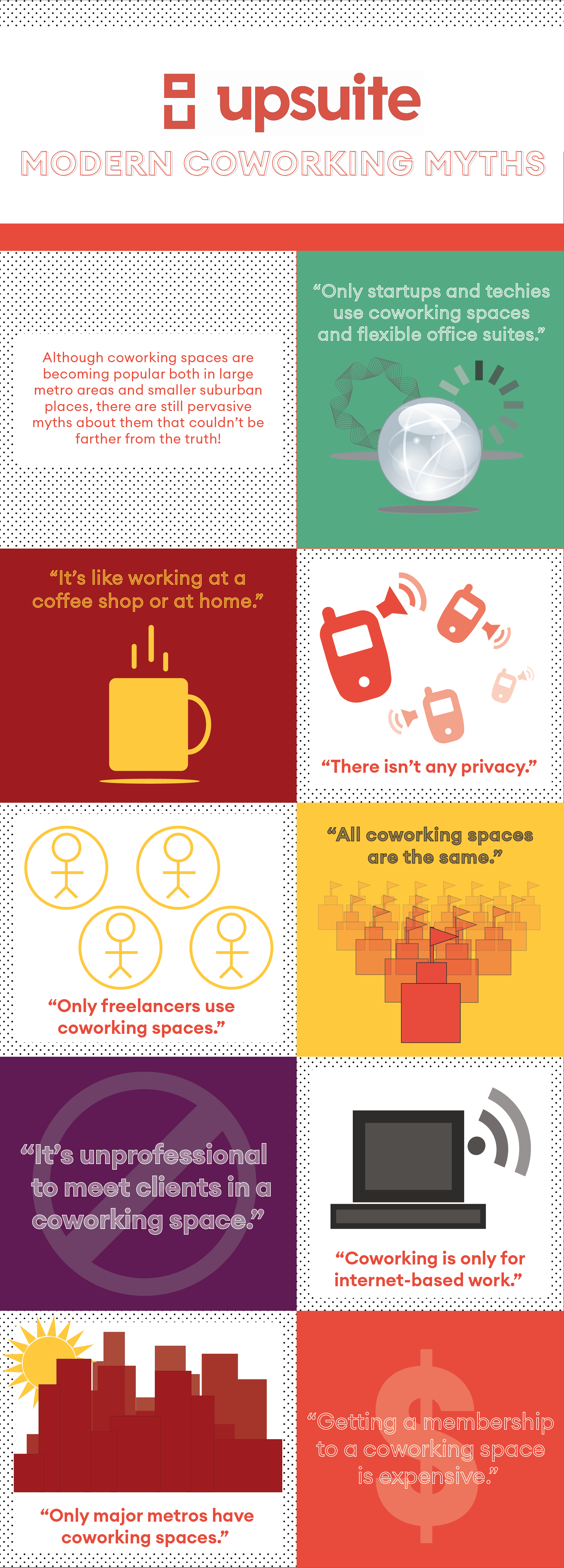 Coworking Myths Infographic
