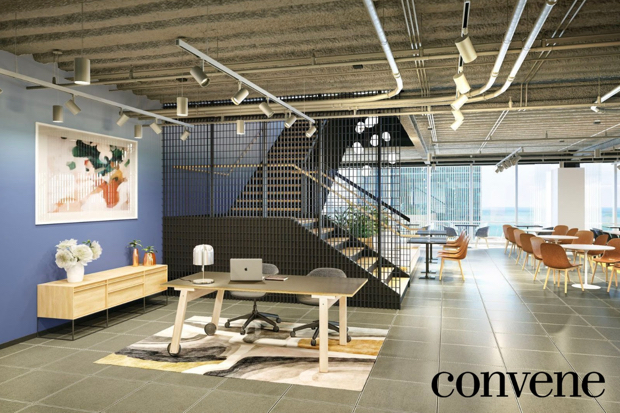 Office suites in a coworking space