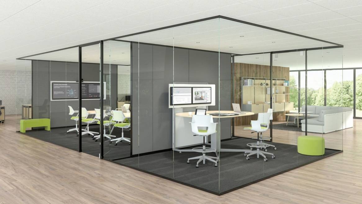 How much office space you need depends on m