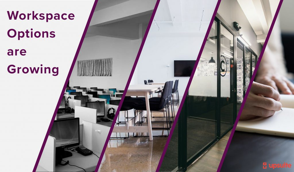Options to find workspace are growing