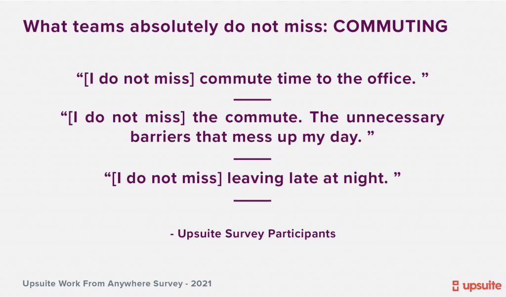 Upsuite Survey - What Teams Do Not Miss WFH
